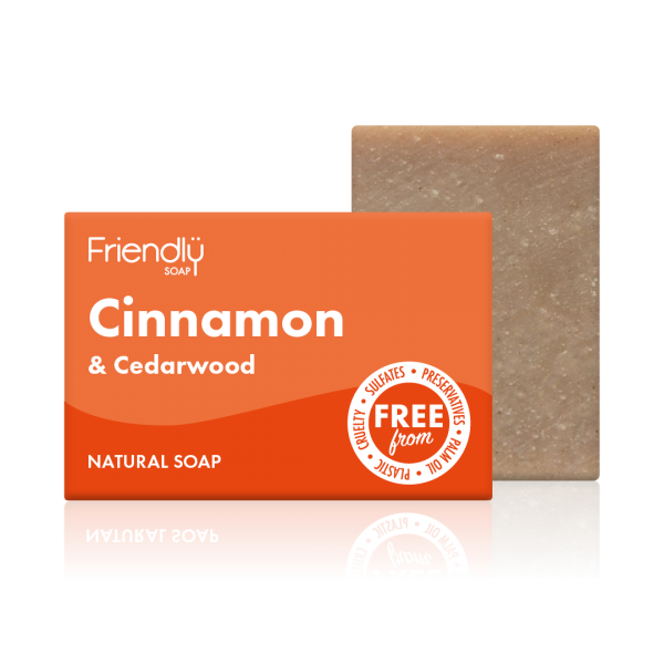 Cinnamon & Ceadarwood Natural Soap - Friendly Soap - 95g