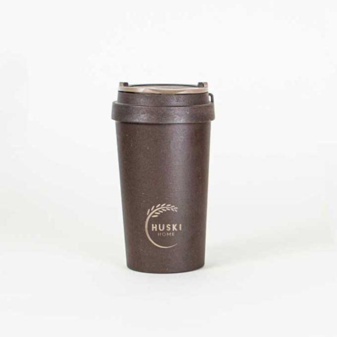 Coffee Husk Travel Cup in Coffee 400ml - Huski Home
