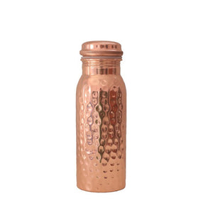 Hammered Copper Water Bottle 600ml