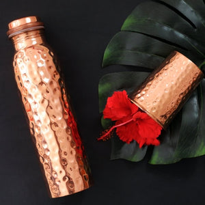 Hammered Copper Water Bottle 900ml