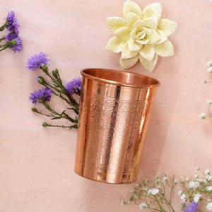 Engraved Copper Glass 300ml