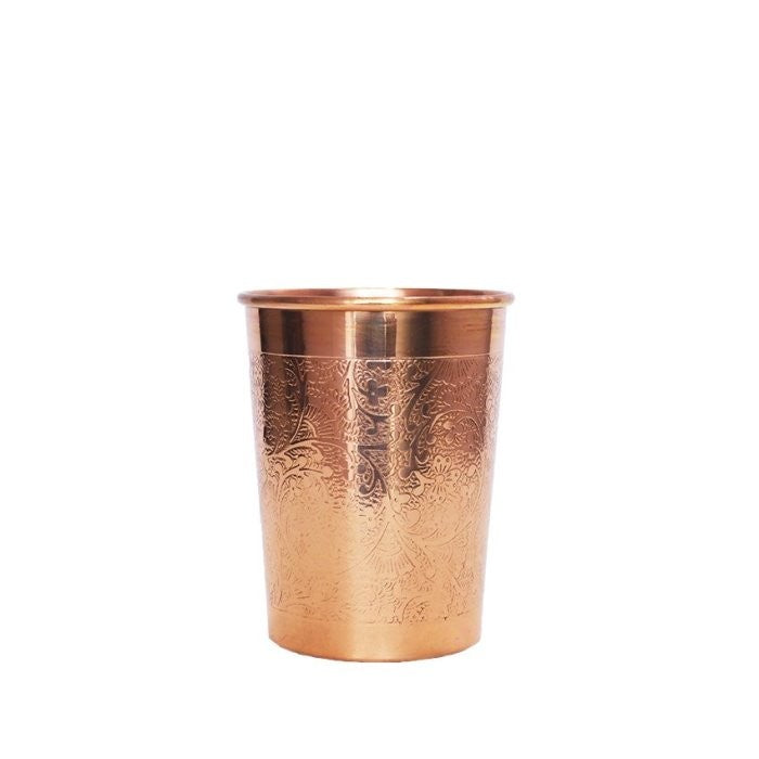 Engraved Copper Glass - 300ml - Forrest & Love