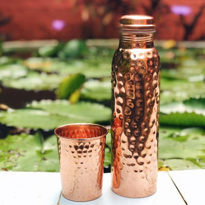 Hammered Copper Glass - 300ml - Forrest & Love
