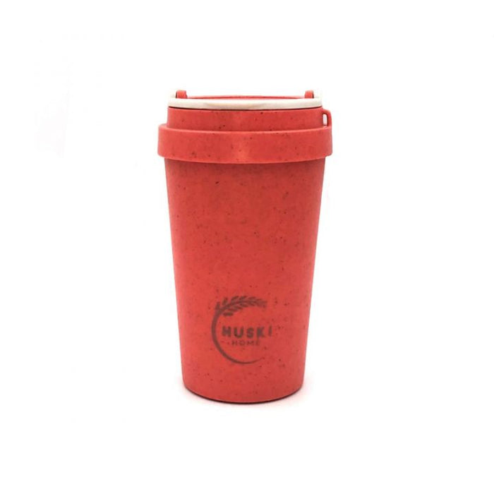 Rice Husk Coffee Cup - Coral - Huski Home
