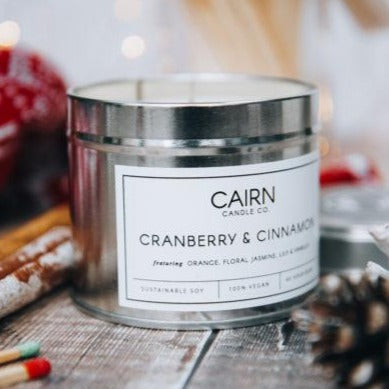 Cranberry & Cinnamon Vegan Candle - Cairn Candle Co.