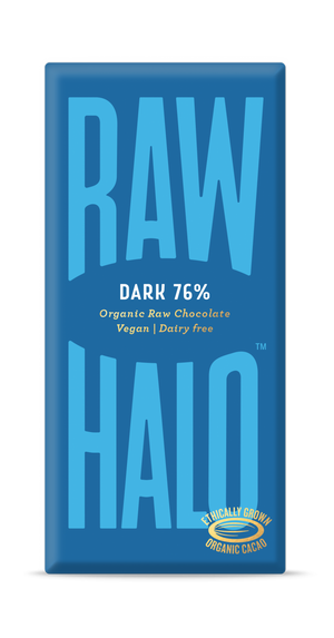 Raw Halo Organic Vegan Chocolate Dark 76% 70g