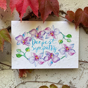 Loop Loop Deepest Sympathy Plantable Card