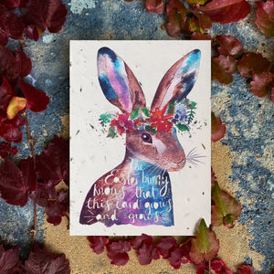 Loop Loop Easter Bunny Plantable Card