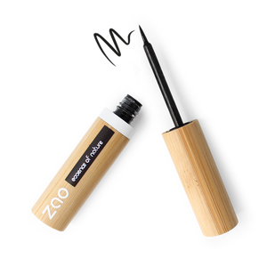 Refillable Black Felt Tip Eyeliner Makeup Vegan Zao