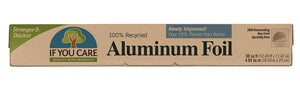 100% Recycled Aluminium Foil If you care