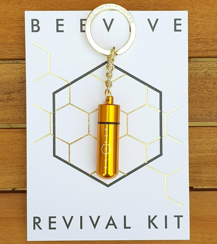 The Bee Revival Kit Keyring Gold - BEEVIVE