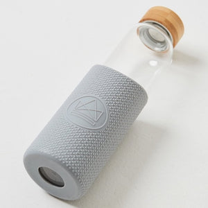 Neon Kactus Grey Glass Water Bottle Reusable
