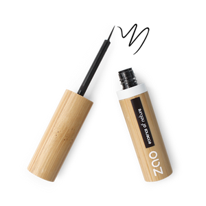 Black Organic Refillable Vegan Liquid Eyeliner Makeup Zao