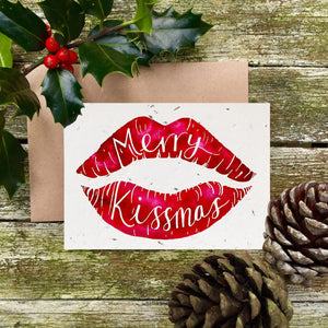 Loop Loop Plantable Christmas card Merry Kissmas