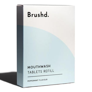 Mouthwash Tablets Refill Peppermint Brushd.