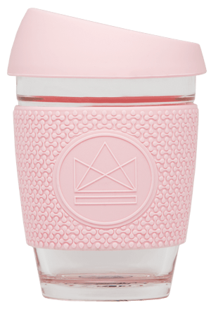 Pink Reusable Glass Cup Neon Kactus