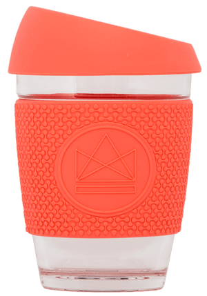 Reusable Glass Cup Coral Neon Kactus