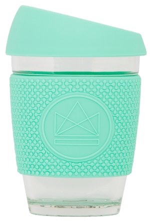 Neon Kactus Reusable Glass Cup Mint