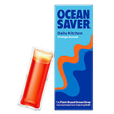 Kitchen Daily Cleaning Refill Drops Orange Sunset Ocean Saver