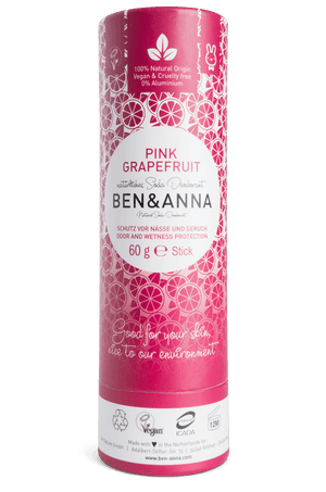 Pink Grapefruit Natural Soda Deodorant Ben & Anna