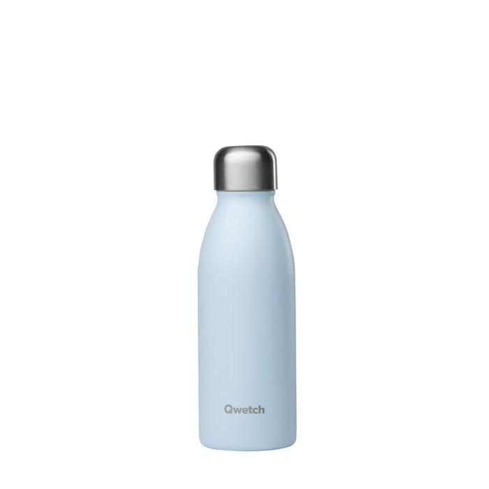 Pastel Blue Insulated Stainless Steel Bottle - Qwetch - 260ml