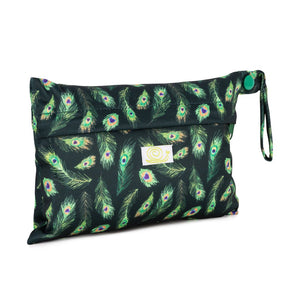 Baba+Boo Reusable sanitary wet bag peacock