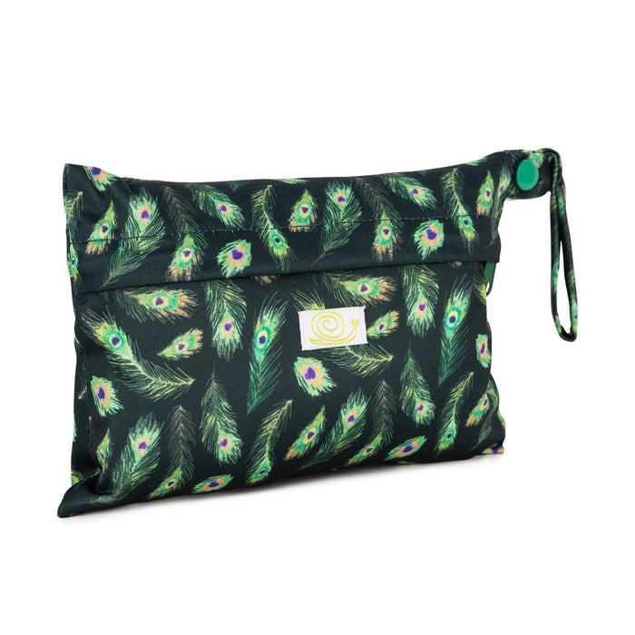 Mini Sanitary Pad Reusable Bag - Peacock - Baba+Boo