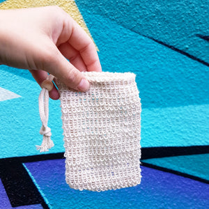 Sisal soap bag compostable pouch