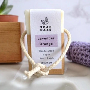 Vegan Soap on A Rope Lavender Orange Soap Daze