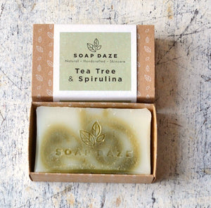 Vegan Soap Tea Tree & Spirulina Soap Daze
