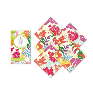 Leaf Wrap Vegan Wax Wraps Tropical Teeny Pack