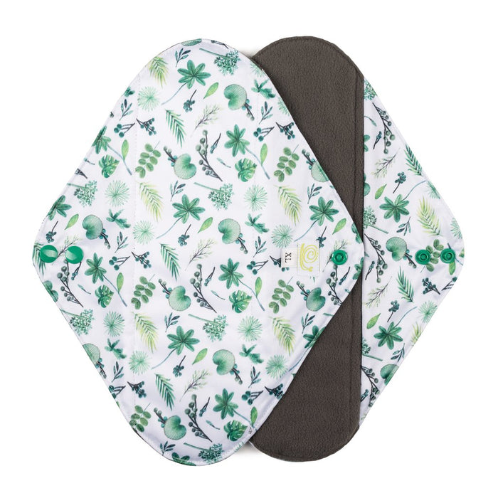 Reusable Sanitary Pads x2 - Extra Large - Plants - Baba+Boo