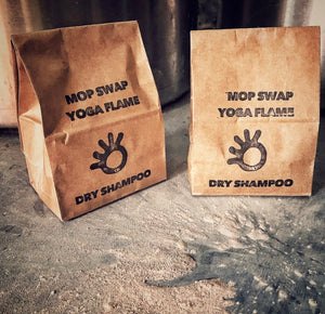 Yoga flame mop swap primal suds dry shampoo