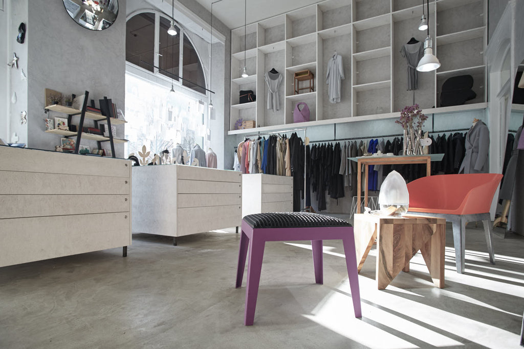 Showroom de la boutique Hardecore à Prague.