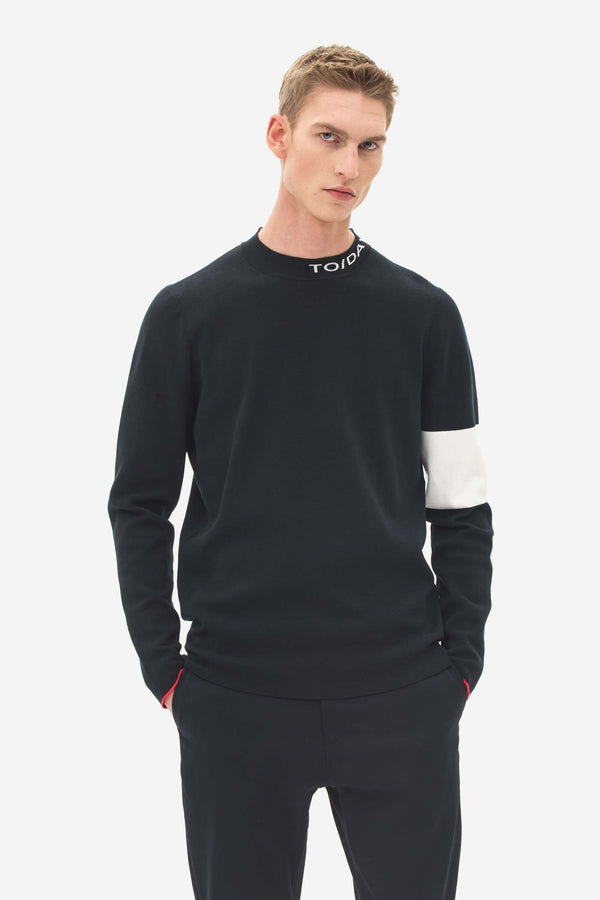 High Neck Sweater caviar