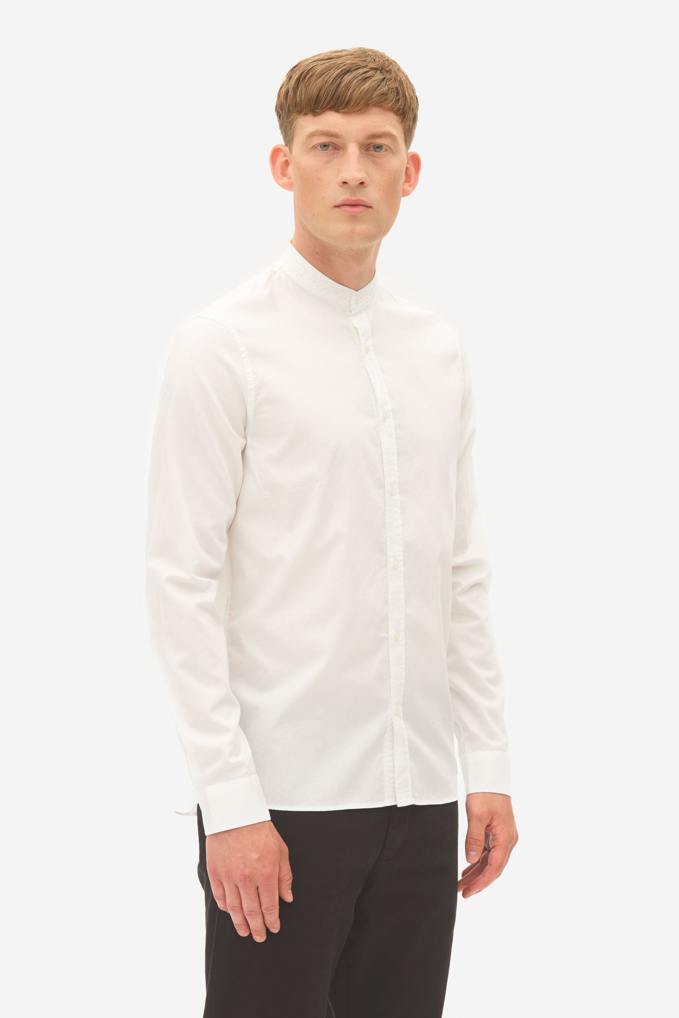 Oxford Grandad Shirt bright white