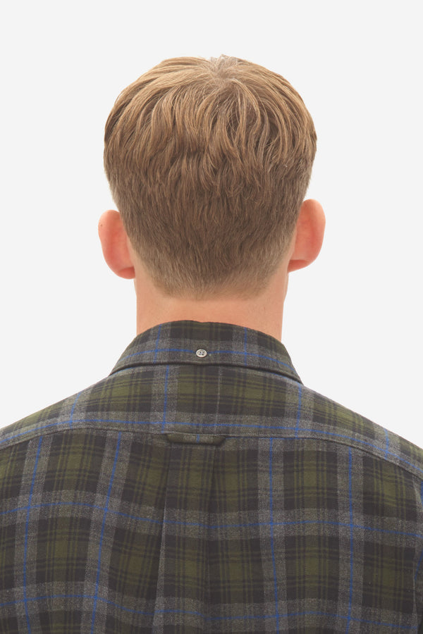 Brushed Check Button Down Shirt rosin