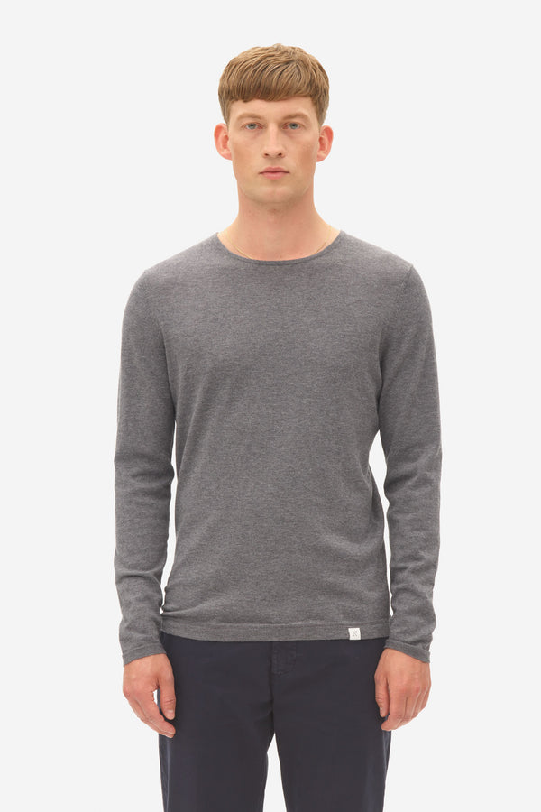 Woolen Long Sleeve  grey melange