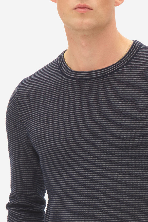 Mini Stripe Sweater sky captain