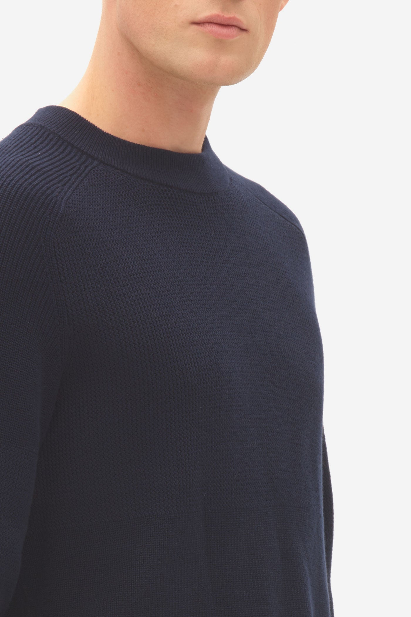 Multi Structure Sweater sky captain