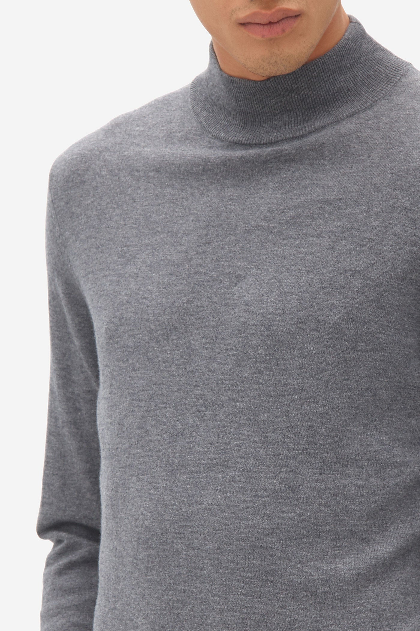 Turtle Neck  grey melange