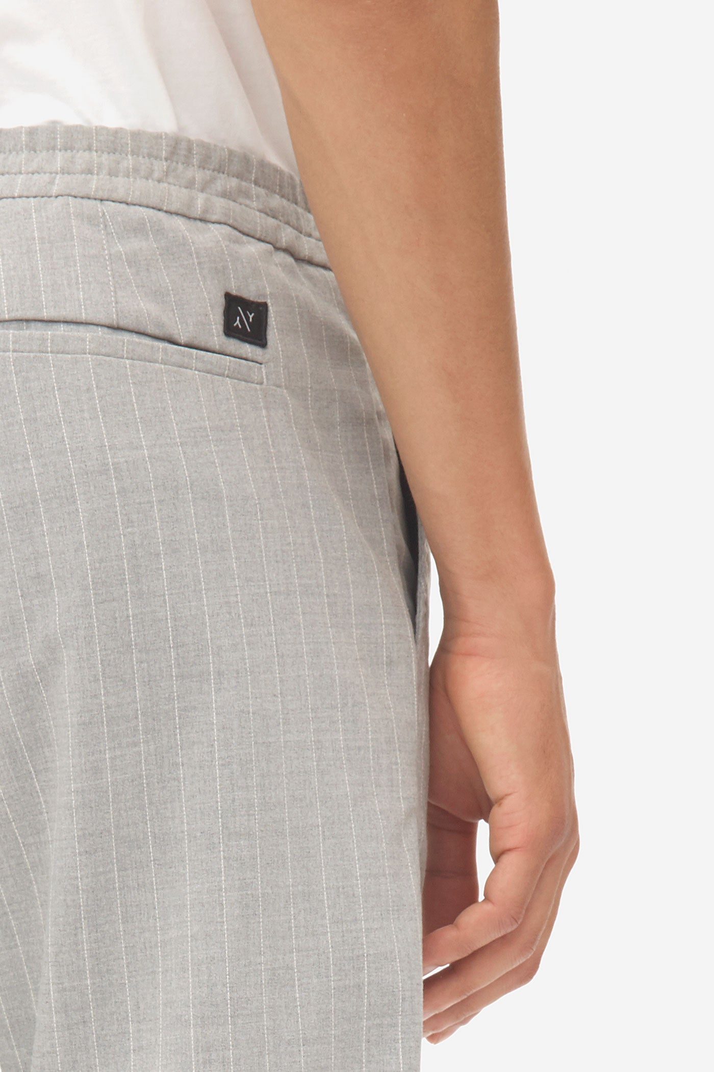 Cuffed Pants  grey melange
