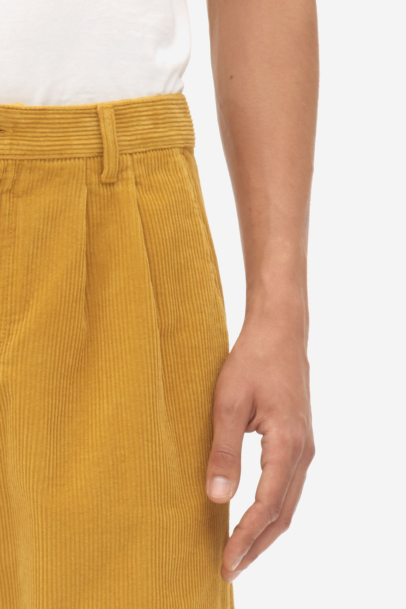 Double Pleat Pants chai tea