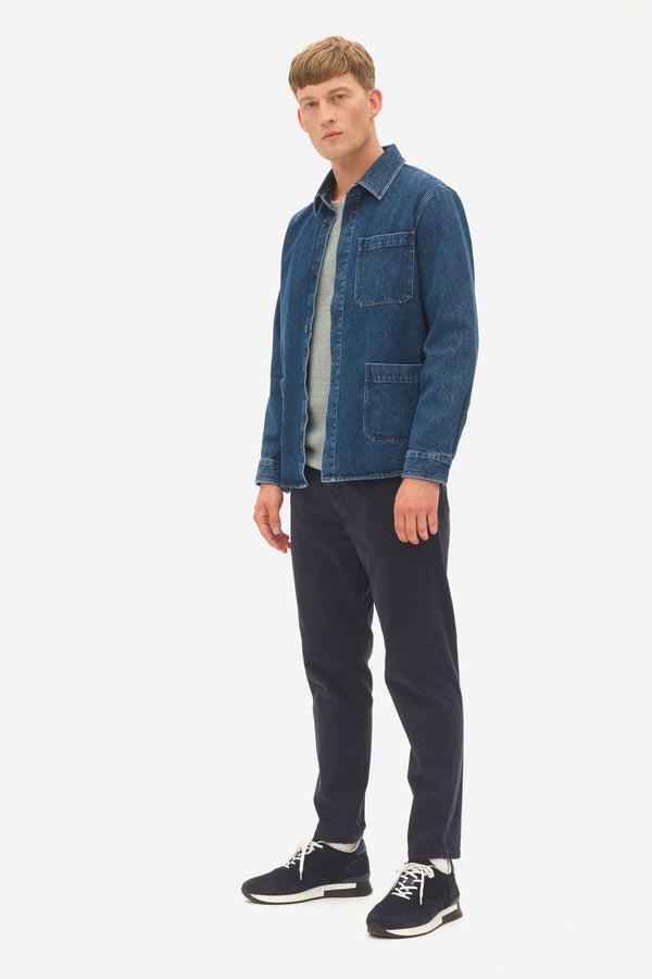 dark denim overshirt sky captain