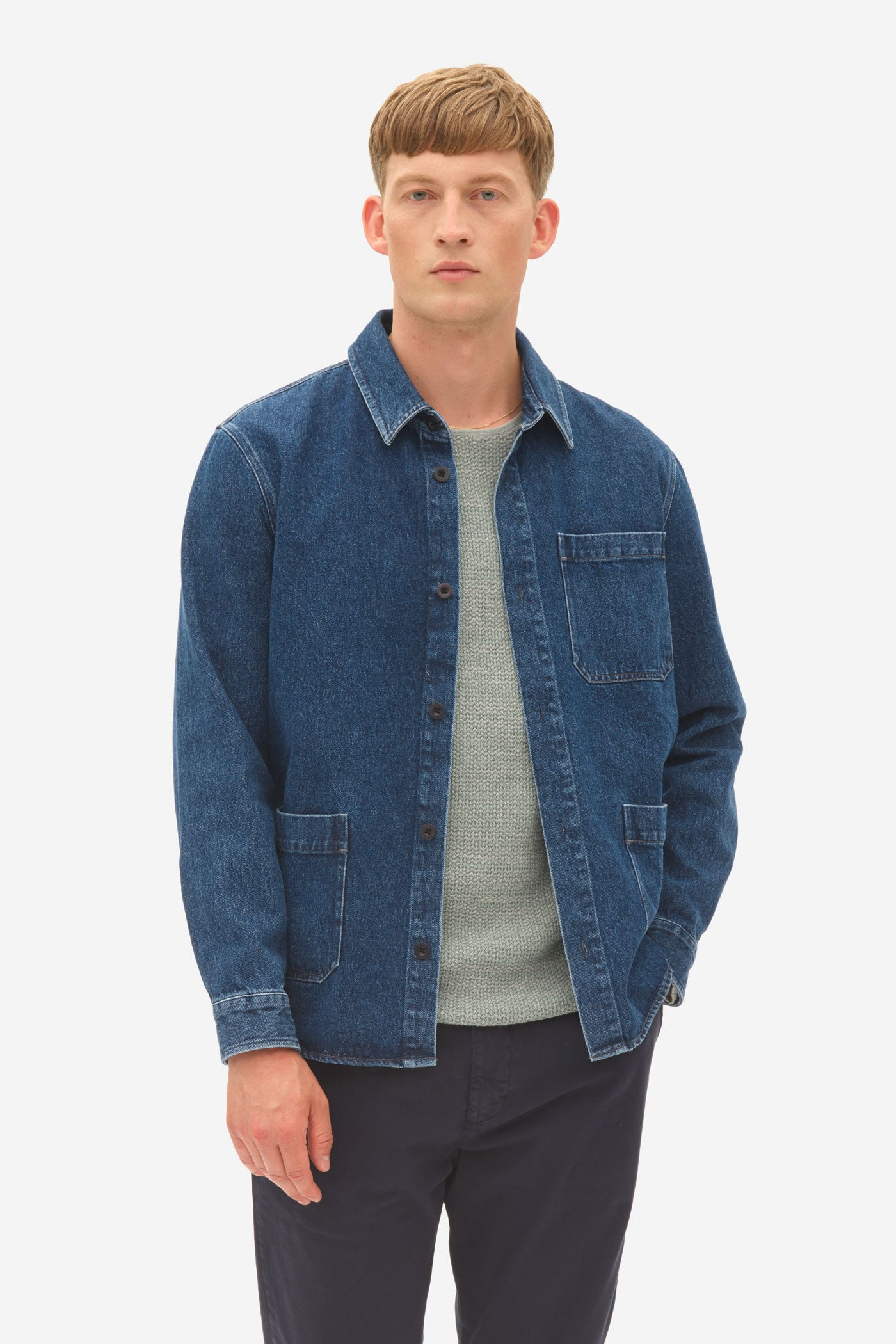 Denim Overshirt sky captain