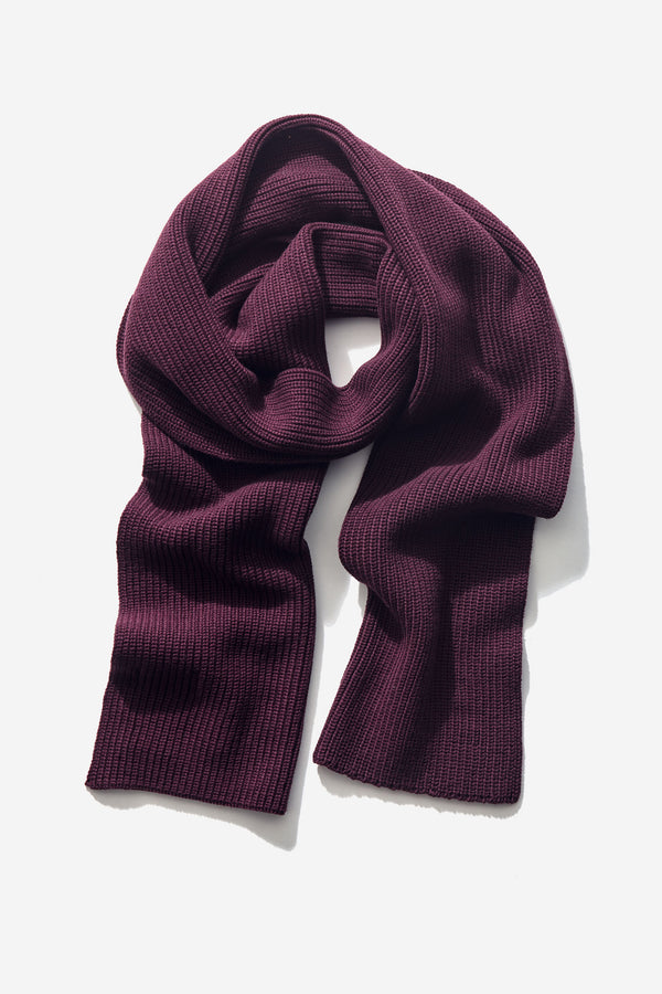 Structured Scarf dark bordeaux