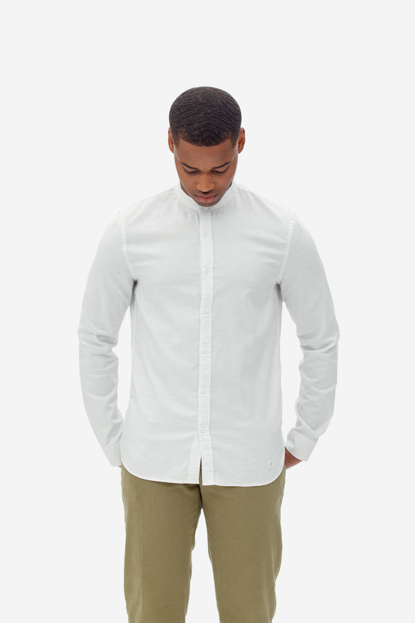 oxford melange shirt bright white