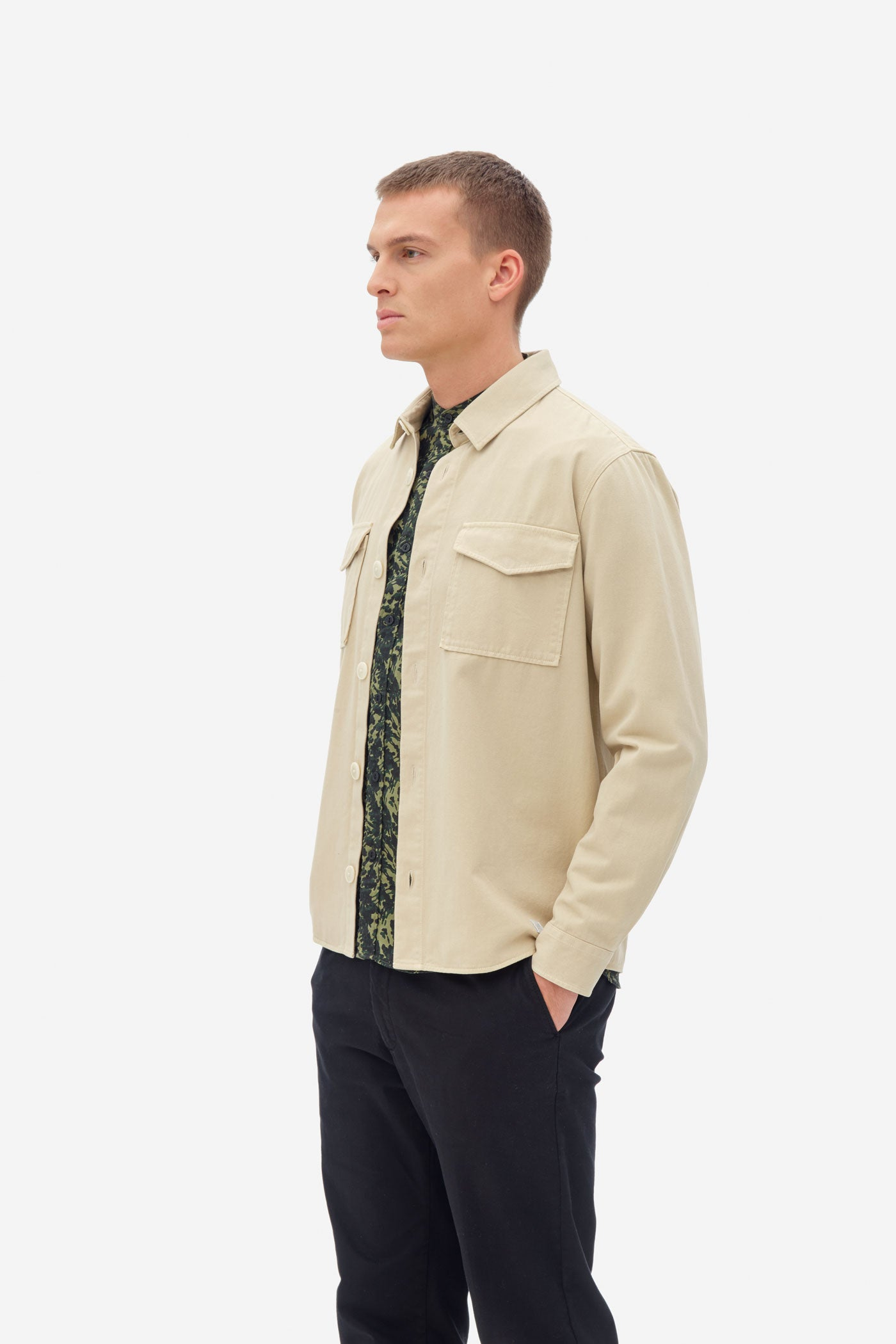 NAB0803D2 soft twill overshirt