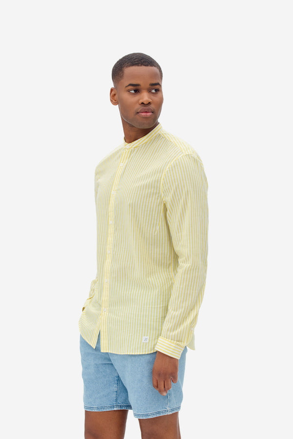NAB0112D3 seersucker stripe shirt