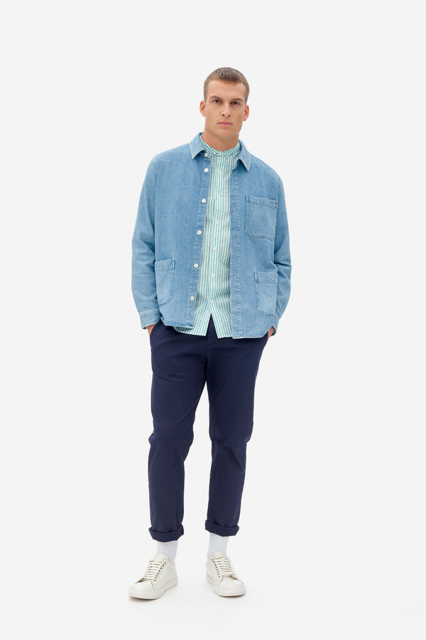 NAB0804D3 denim overshirt